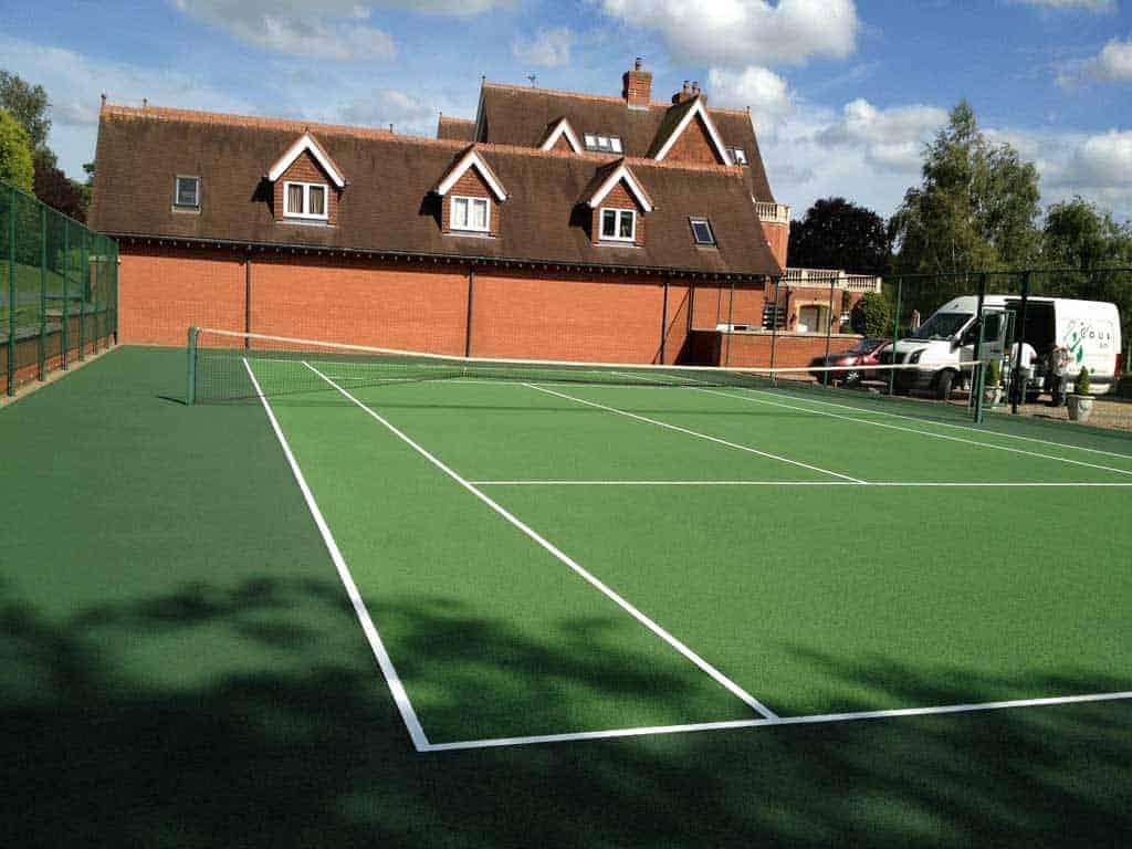 After tennis court restoration