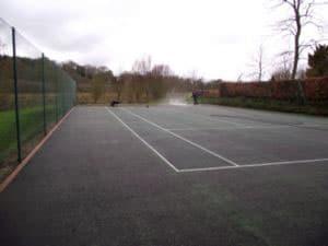 Step 2 tennis court repair process, reinspection