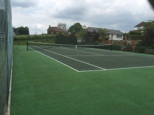 Annual Maintenance a tennis court in Wadhurst after annual maintenance