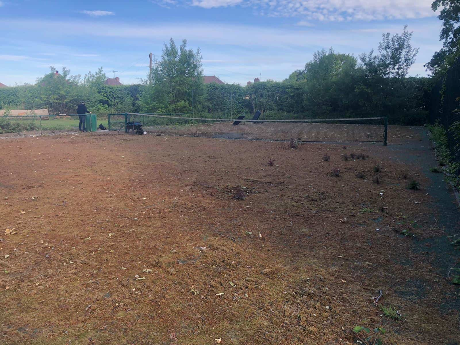 Tennis court cleaning - After