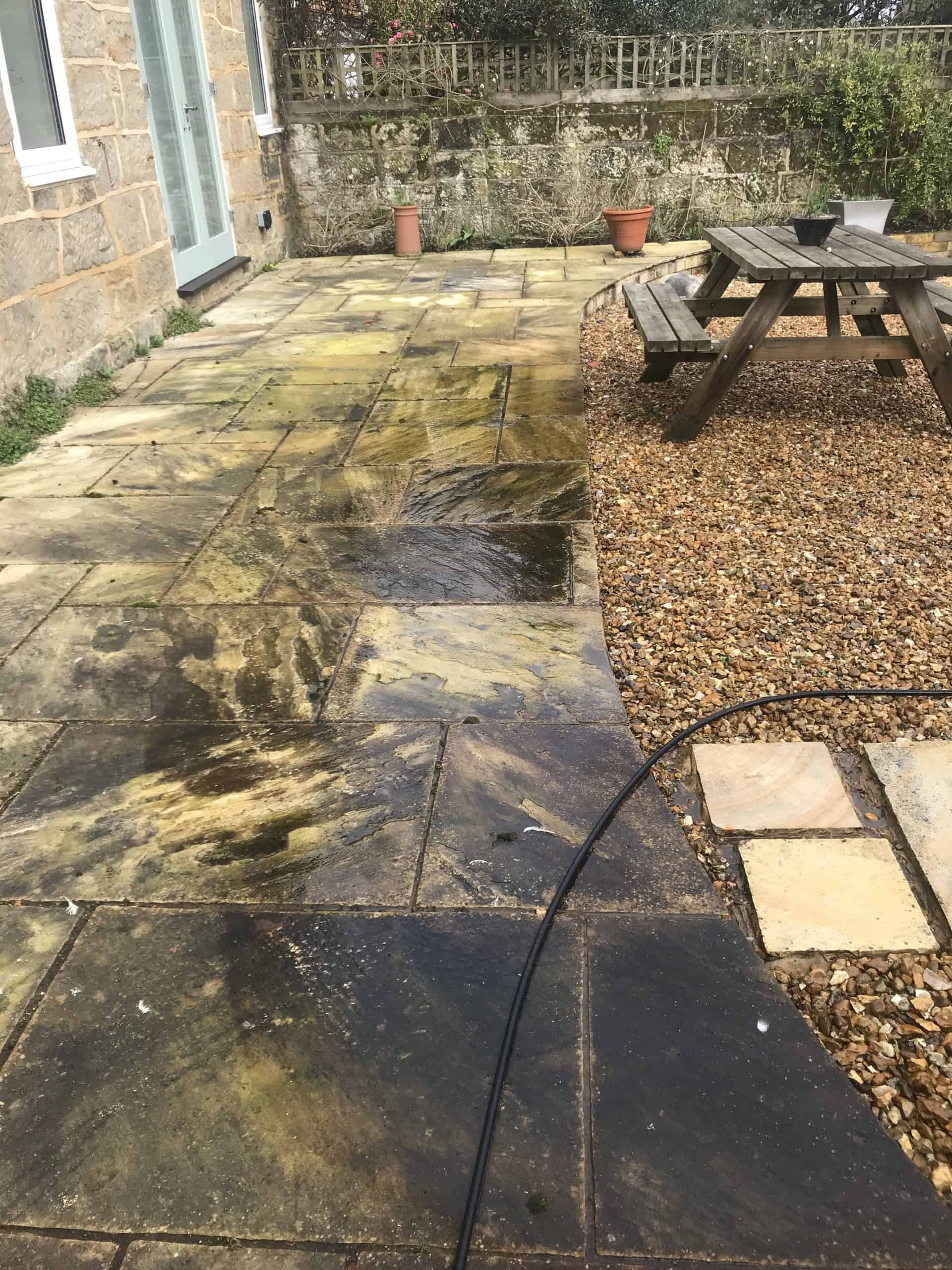 Cleaned Patio