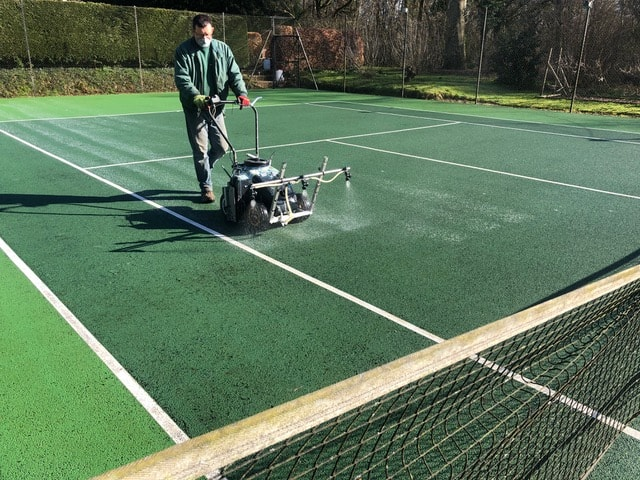 Caring for your tennis court
